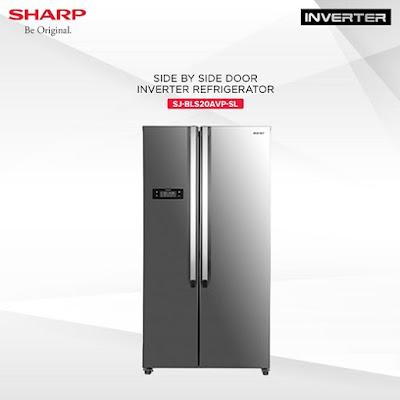 Sharp Side-by-side Inverter Refrigerator (SJ-BLS20AVP-SL)