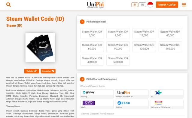 pembelian steam wallet code