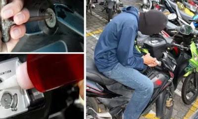 Tips Sederhana Menghindari Pencurian Motor Yang Efektif