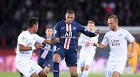 فوز كاسح لفريق باريس سان جيرمان علي نادي مارسيليا باربع اهداف بدون رد في الدوري الفرنسي