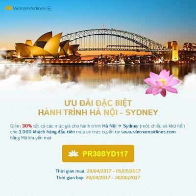 Khuyến mãi đặc biệt hành trình Hà Nội - Sydney