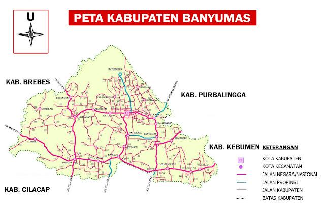 Gambar Peta Kabupaten Banyumas