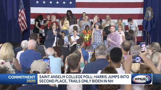 Kamala Harris rises into second place in new Saint Anselm College poll of NH primary voters