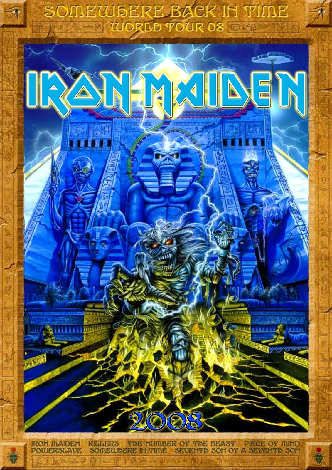 Metal Wallpaper Nash Iron Maiden Somewhere Back In Time 2