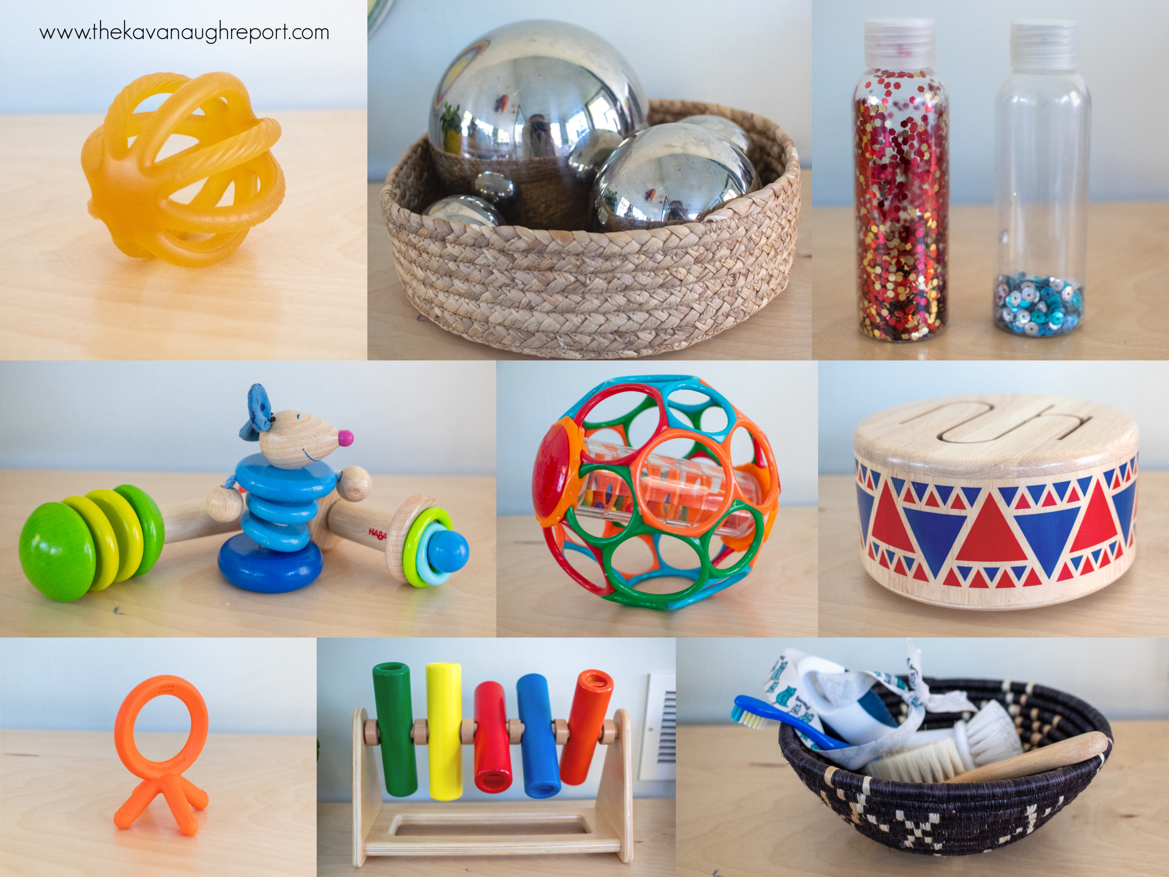 Montessori baby toys for 7 month olds. These activities are fun and engaging for babies.