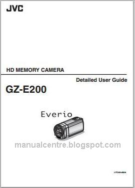 JVC Everio GZ-E200 Manual Cover