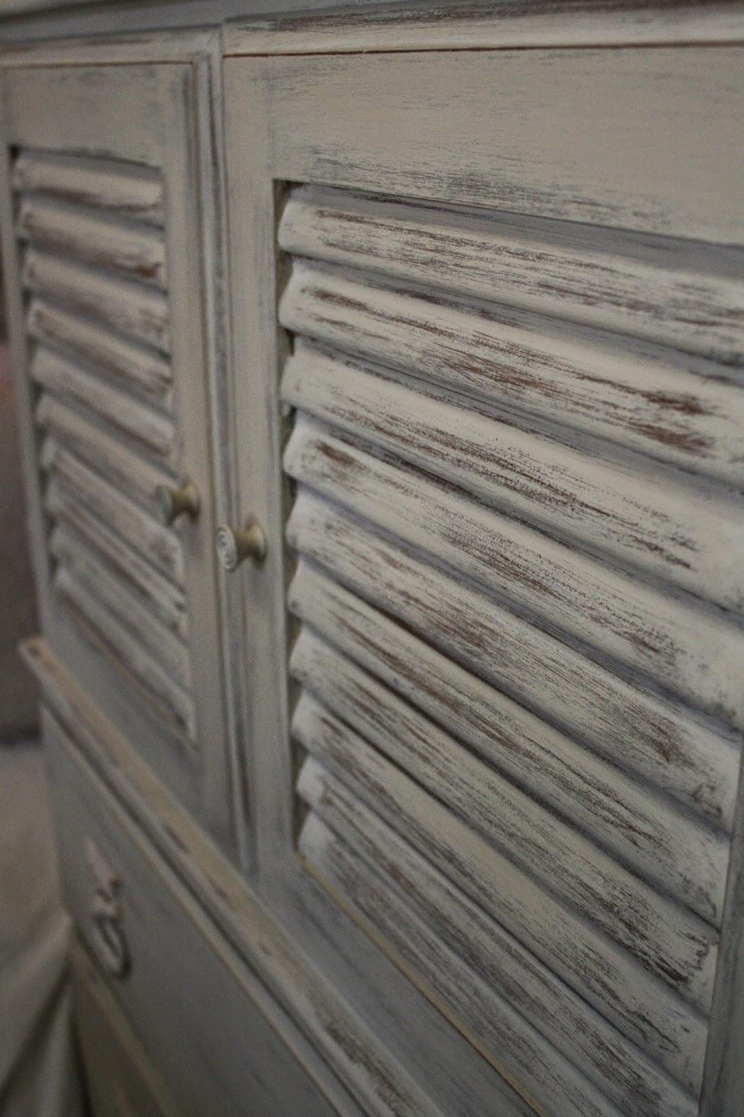 Reloved Rubbish Louvered Door Dresser