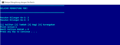 Membuat Program Batch File Sederhana