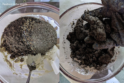 Blending soil, seeds and clay to make seed balls