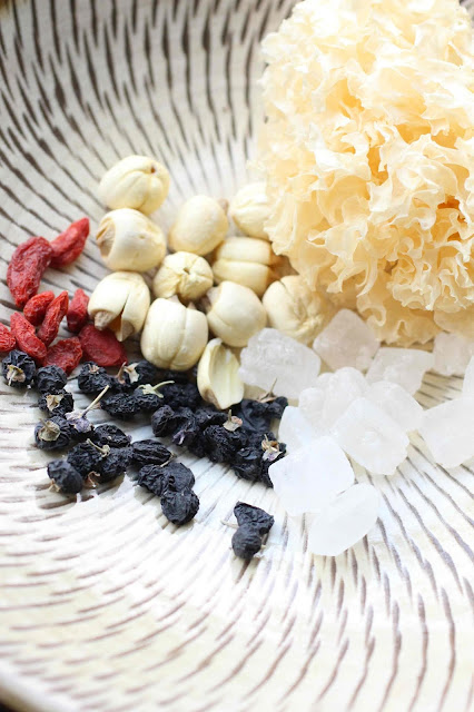 graines de lotus sechees, sucre chinois