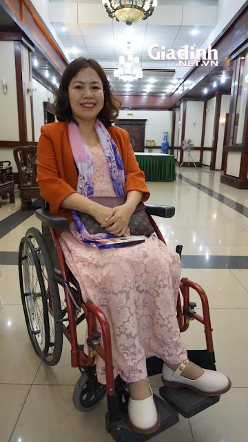 Chị Nguyệt đã mất đi đôi chân sau một tai nạn.
