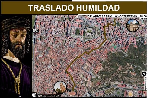 Horario e Itinerario del Traslado a Catedral del Santísimo Cristo de la Humildad de Málaga
