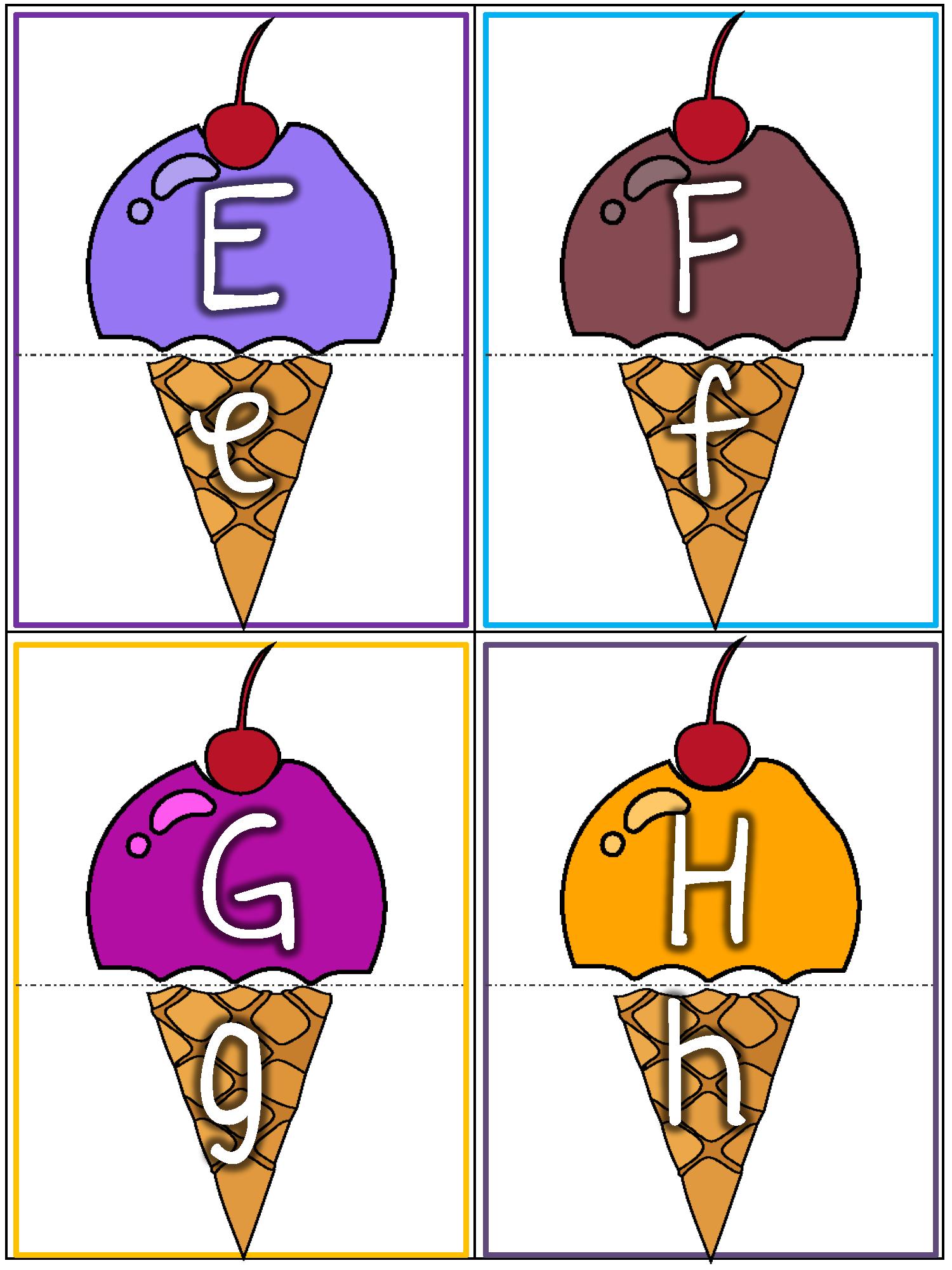 Alphabet Uppercase/Lowercase letters