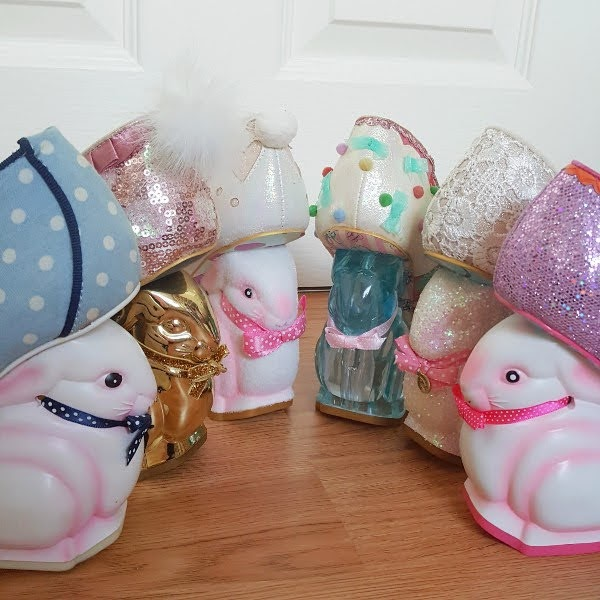 Irregular Choice bunny heeled shoes in various forms in row