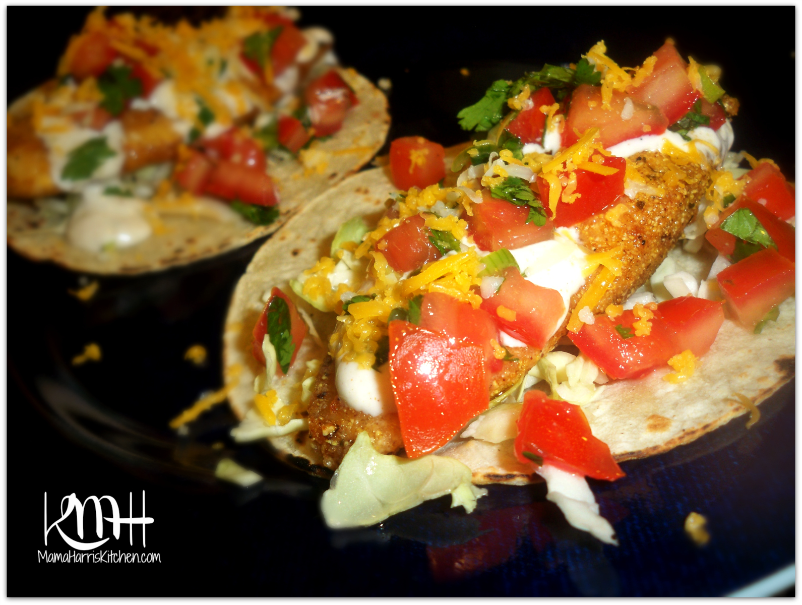 Fish tacos with creamy fish taco sauce mama harris 39 kitchen for White fish tacos
