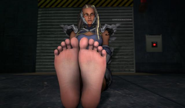 Tekken 7 Master Raven feet