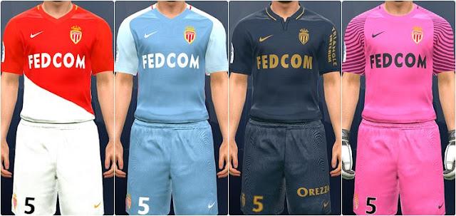 AS Monaco 2017-18 Kit PES 2017