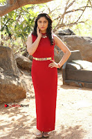 Telugu Actress Zahida Sam Latest Pos in Red Gown at RF Films New Movie Opening  0161.JPG