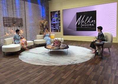 Kell Smith e Carla Vilhena são entrevistadas por Mariana Godoy. Crédito: Isabela Gadelha/Vibra