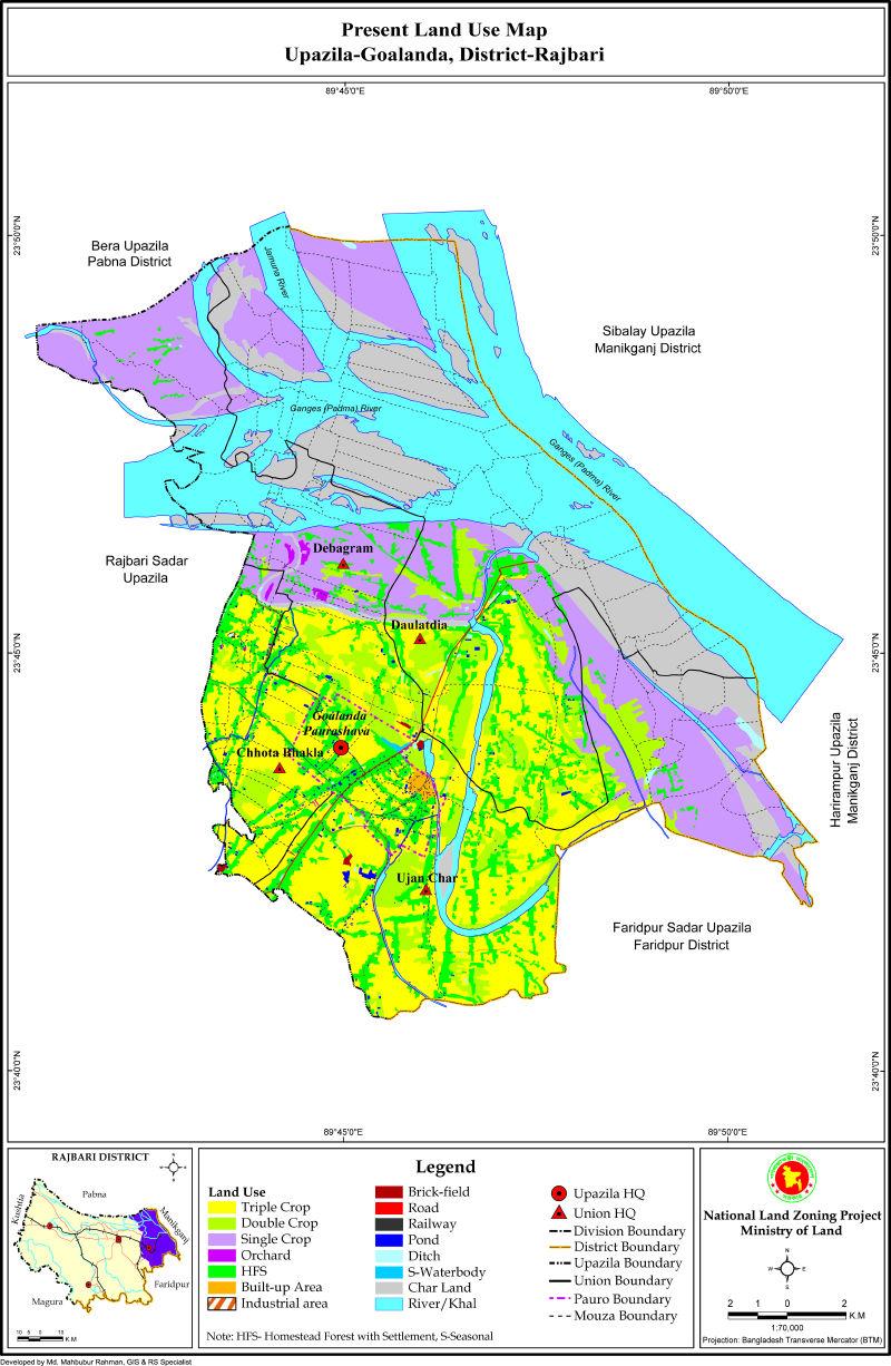 Goalanda Upazila Mouza Map Rajbari District Bangladesh