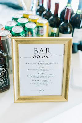 reception bar sign