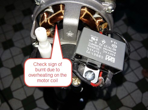 Homemade diy howto make diagnose what cause the stand fan stopped while the cable capacitor and thermal protect can be fixed or replaced by ordinary man but the motor repair requires expert as you wont be able to greentooth Image collections