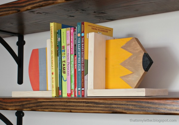 diy pencil bookends