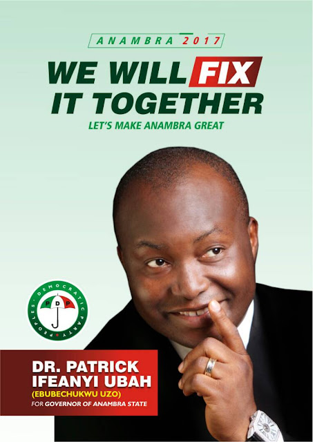 #Justice4PDPAnambra: Ifeanyi Ubah Support Group call on the Ahmed Makarfi-led PDP to allow justice prevail