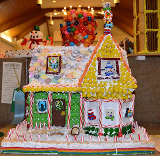 Santa's Workshop gingerbread house