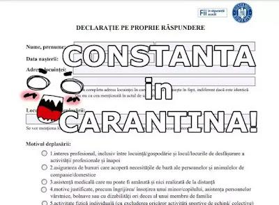 descarca declaratie pe propria raspunde pdf carantina cosntanta