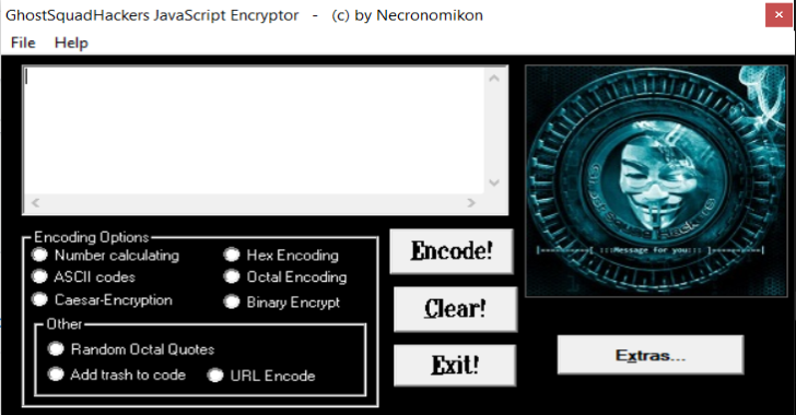 GhostSquadHackers – Encrypt/Encode Your Javascript Code