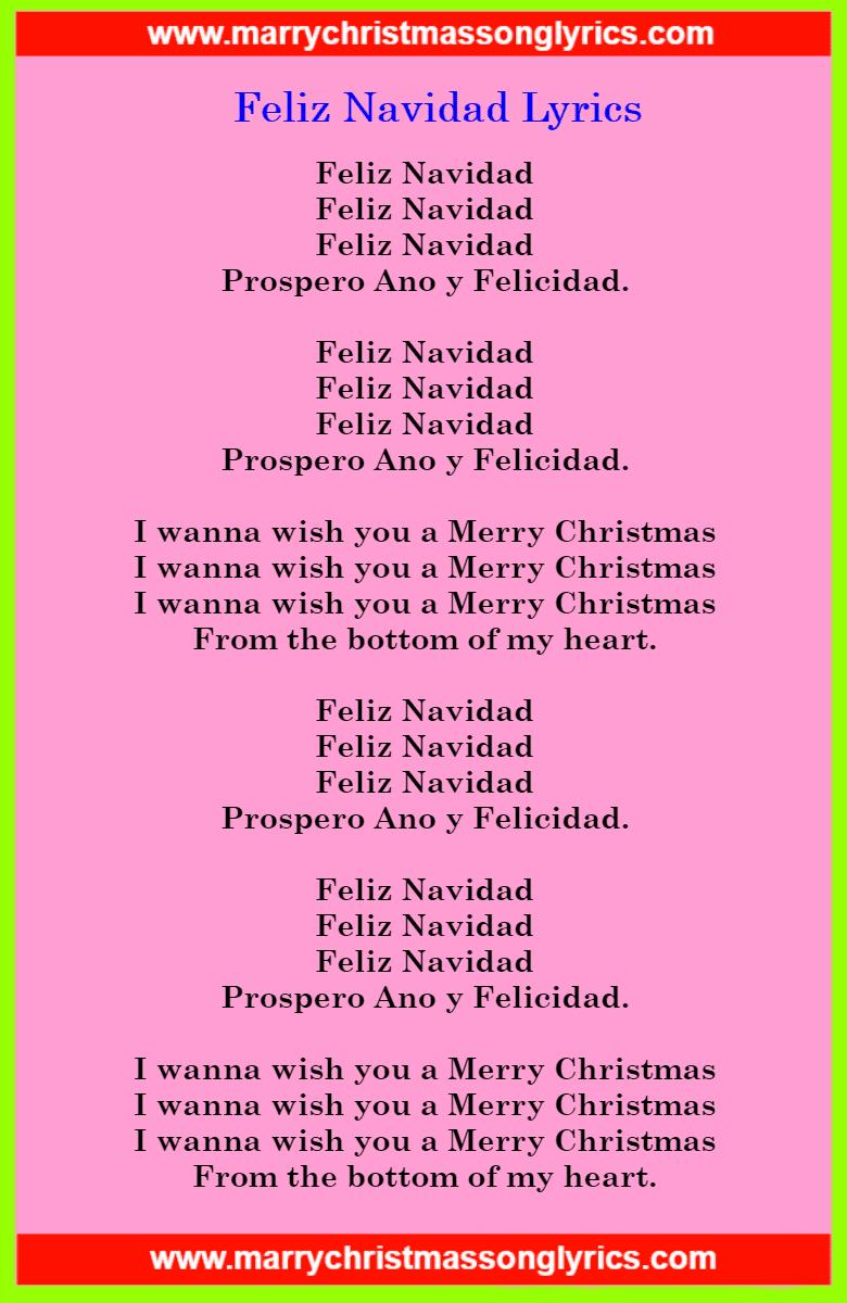 Feliz Navidad Lyrics Image