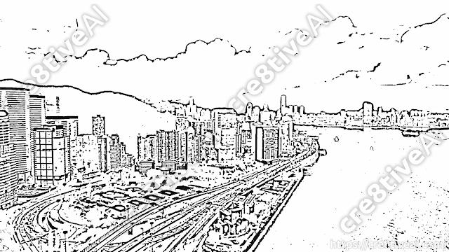 街並み_線画4