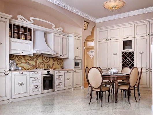 Elegant Kitchen And Dining Room Interior