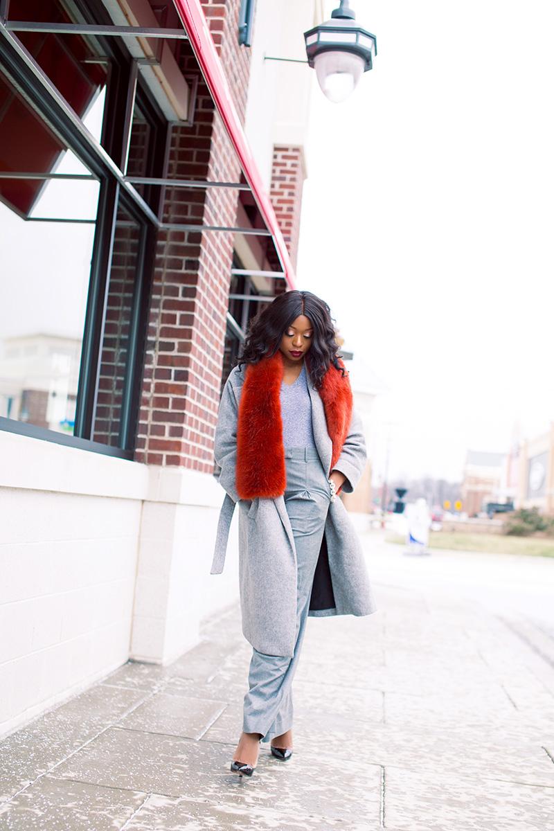 Winter look, bauble bar jewelry, jcrew stole, statement coats, www.jadore-fashion.com