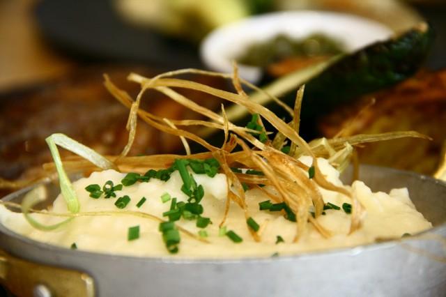 פירה ארטישוק ירושלמי, מסעדת ענבה, צילום אורנה לבנה