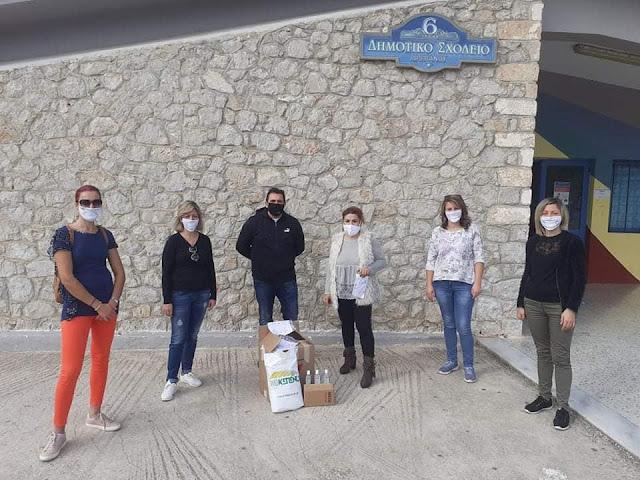 Μάσκες και αντισηπτικά από τους Μύλους ΚΕΠΕΝΟΥ στο Δημοτικό Σχολείο Δρεπάνου