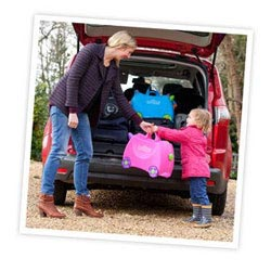 makes easier in the airport for my little girl, pink Trunki Ride on Suitcase £23.49
