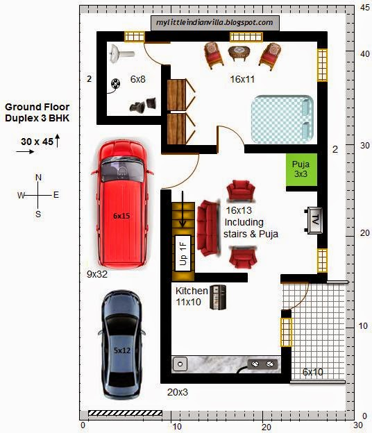 15 X 40 House Plan East Facing With Car Parking: My Little Indian Villa: July 2014