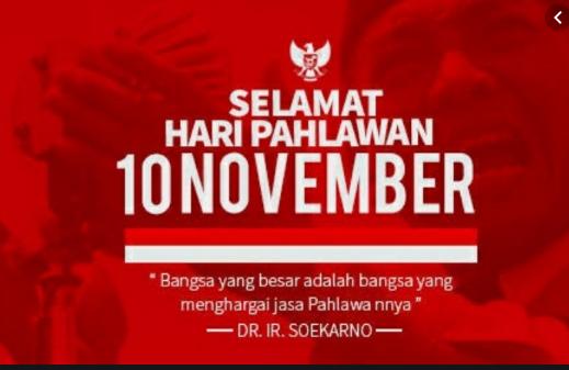 40+  KATA KATA UCAPAN SELAMAT HARI PAHLAWAN 10 November