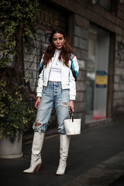 WHITE KNEE BOOT FASHION