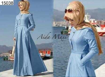 Jual Maxi Dress Aida Maxi Dress Denim - 15038