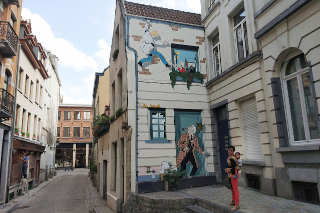 Brussels Comic Strip Route - Comic Art Murals