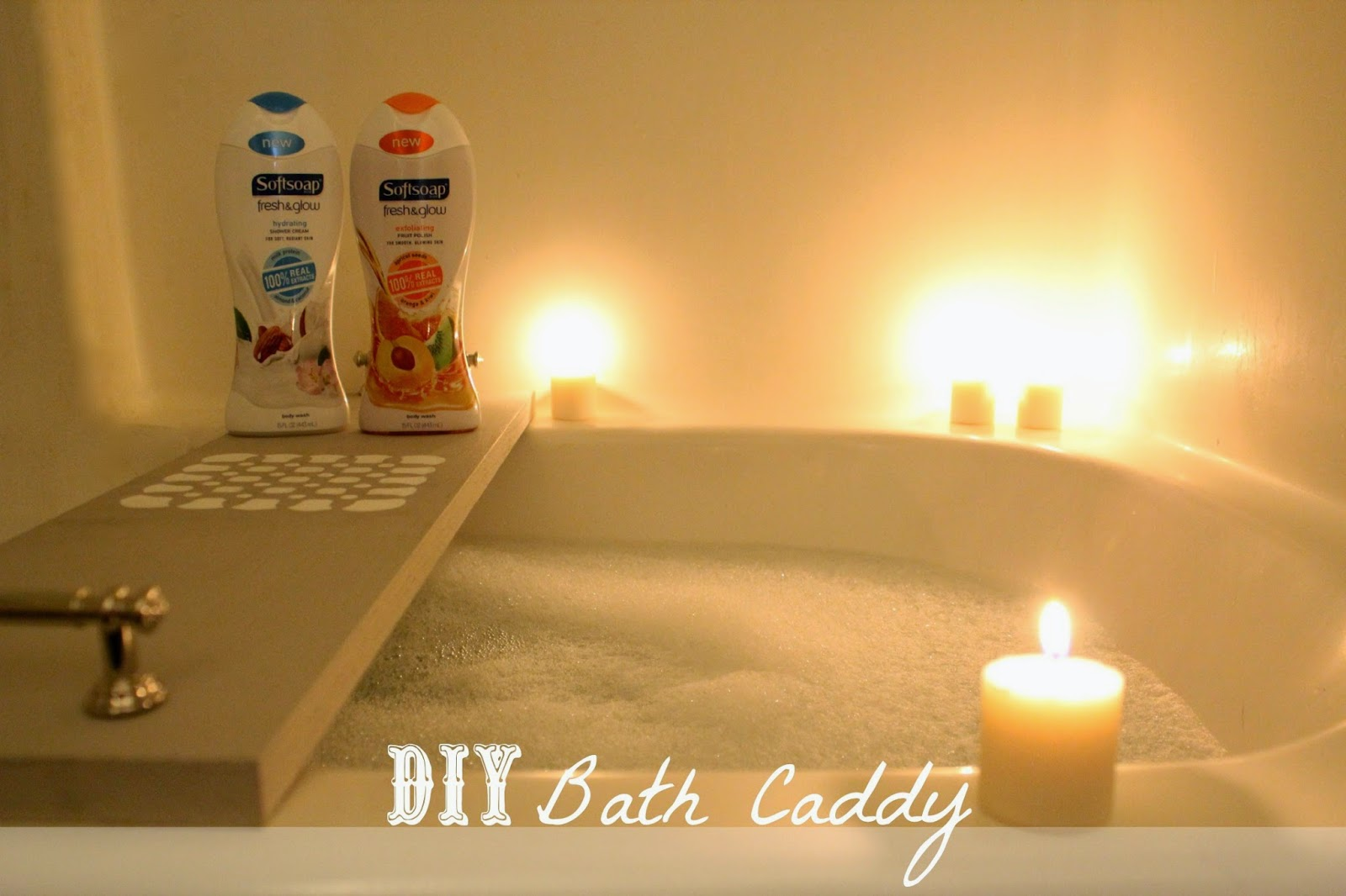A Diy Bath Caddy To Compliment An Exfoliating And