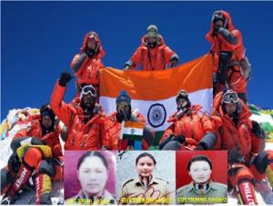 J&K NCC Girls Scale Mt. Everest