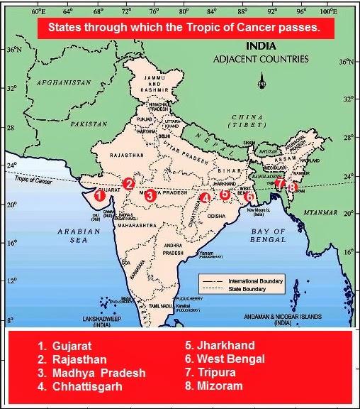 e97cd12e60822a74124f8ab3aff2e3b5 tropic of cancer indian states map