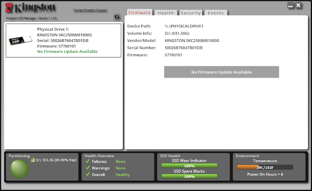 SOFTWARE KINGSTON SSD MANAGER