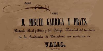 Miquel Garriga i Prats, notario de Valls