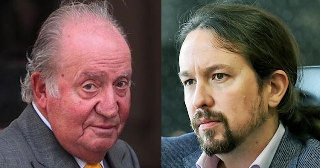 Juan Carlos y Pablo Iglesias