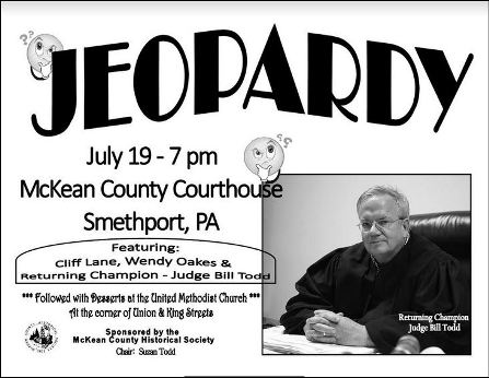 7-19 Jeopardy, McKean Co. Courthouse